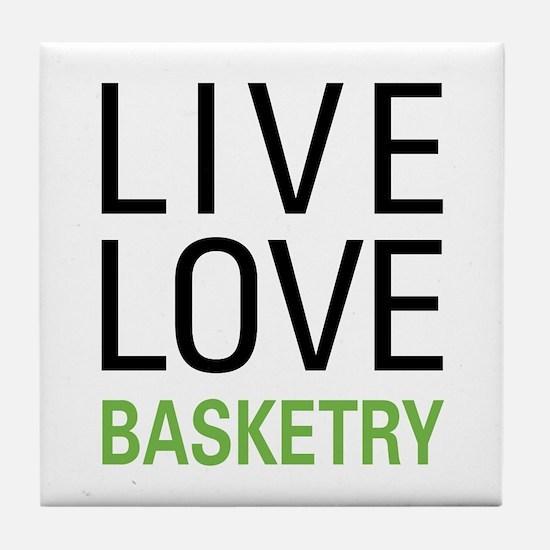 Live Love Basketry Tile Coaster