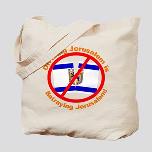 Stop The Division of Jerusalem Tote Bag