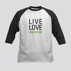 Live Love Beachcomb Kids Baseball Jersey