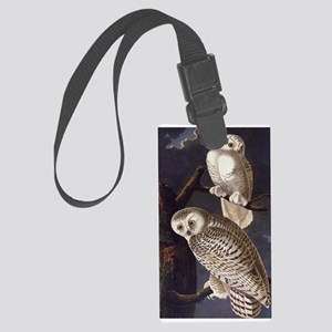 White Snowy Owls Vintage Audubon Wildlife Luggage