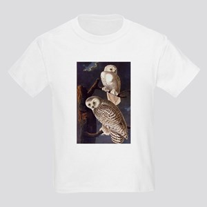 White Snowy Owls Vintage Audubon Wildlife T-Shirt