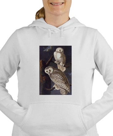 White Snowy Owls Vintage Audubon Wildlife Women's