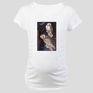 White Snowy Owls Vintage Audubon Wildlife Maternit