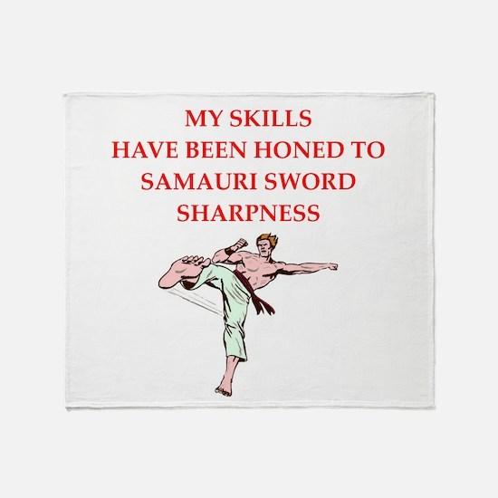 Martial arts joke Throw Blanket