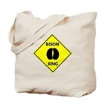 Bison Crossing Tote Bag
