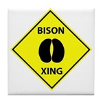 Bison Crossing Tile Coaster