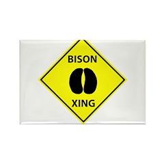 Bison Crossing Rectangle Magnet (100 pack)
