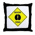 Bison Crossing Throw Pillow