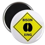 Bison Crossing Magnet