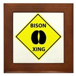 Bison Crossing Framed Tile
