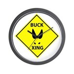 Buck Crossing Wall Clock