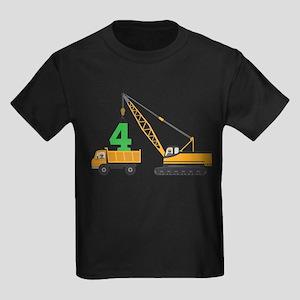 4th Birthday Construction T-Shirt