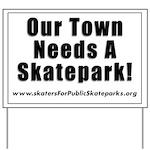 Skatepark Yard Sign