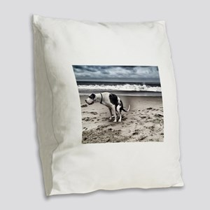 Pooping Pooches Great Dane Burlap Throw Pillow
