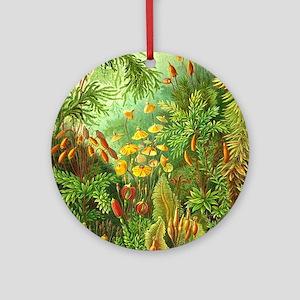 Vintage Plants Decorative Nature Round Ornament
