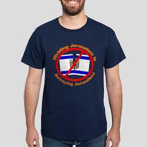 Stop Division of Jerusalem Dark T-Shirt