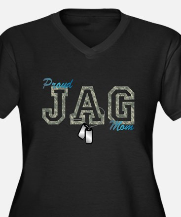 jag mom Women's Plus Size V-Neck Dark T-Shirt