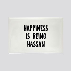 Happiness is being Hassan Rectangle Magnet
