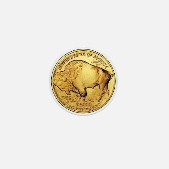 Gold Buffalo Mini Button