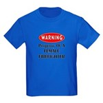 Female Firefighter Property Kids Dark T-Shirt