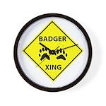 Badger Crossing Wall Clock