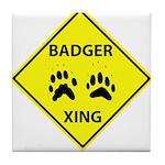 Badger Crossing Tile Coaster