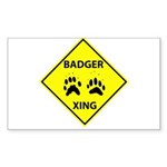 Badger Crossing Rectangle Sticker