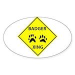 Badger Crossing Oval Sticker