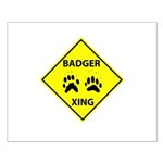 Badger Crossing Small Poster