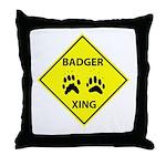 Badger Crossing Throw Pillow