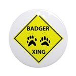 Badger Crossing Ornament (Round)