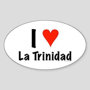 I love La Trinidad Oval Sticker