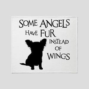 ANGEL DOG Throw Blanket