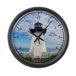 Olcott Lighthouse Large Wall Clock