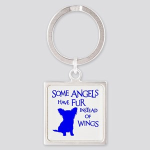 ANGEL DOG Square Keychain