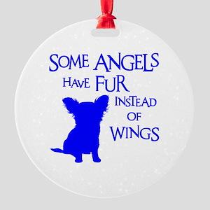 ANGEL DOG Round Ornament