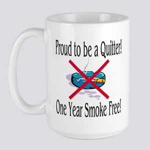 Proud Quitter (One Year) Large Mug