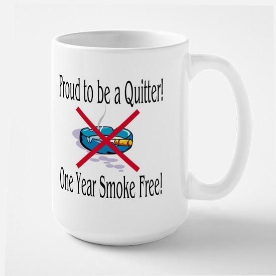 Proud Quitter (One Year) Large Mug