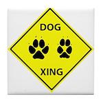 Dog Crossing Tile Coaster