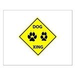Dog Crossing Small Poster