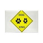 Dog Crossing Rectangle Magnet (10 pack)