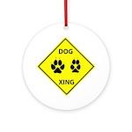 Dog Crossing Ornament (Round)