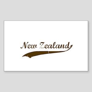 Vintage New Zealand Retro Rectangle Sticker