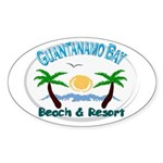 Guantanamo bay Oval Sticker