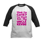 Think I'm Cute? Uncle Kevin Kids Baseball Jersey