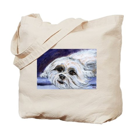 adorable MALTESE portrait Tote Bag