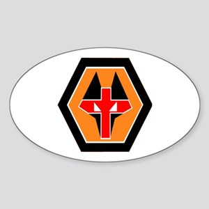 WOLVES Oval Sticker