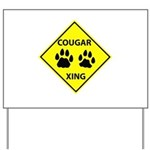 Cougar Mountain Lion Crossing Yard Sign