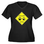 Cougar Mountain Lion Crossing Women's Plus Size V-