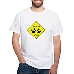 Cougar Mountain Lion Crossing White T-Shirt